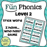 """2nd Grade FUNDATIONS Level 2 """"I Have...Who Has?"""" Trick Word Game"""