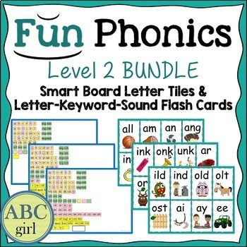 2nd Grade FUNDATIONS Level 2 Smart Board and Flash Card Bundle