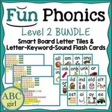 2nd Grade Fundationally FUN PHONICS Level 2 Smart Board and Flash Card Bundle