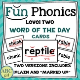 FUN PHONICS Level 2 Word of the Day Cards