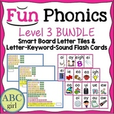 3rd Grade Fundationally FUN PHONICS Level 3 Smart Board and Flash Card Bundle