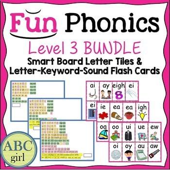 3rd Grade Fundationally FUN PHONICS Level 3 Smart Board and Flash Card Bundle