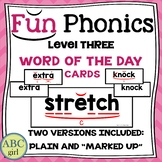3rd Grade FUNDATIONS Level 3 Word of the Day Cards