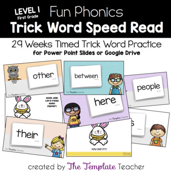 Fun Phonics Trick Word Speed Read for First Grade