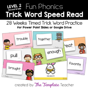 Fun Phonics Trick Word Speed Read for Second Grade Freebie