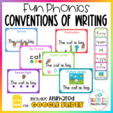 Fun Phonics Writing Sentences Posters with Bookmarks