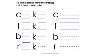 Fun Phonics Writing Worksheet
