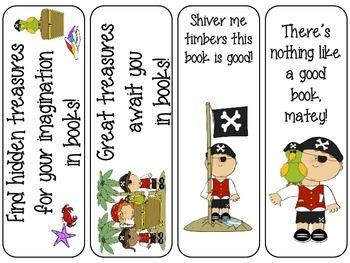 Fun Pirate Bookmarks