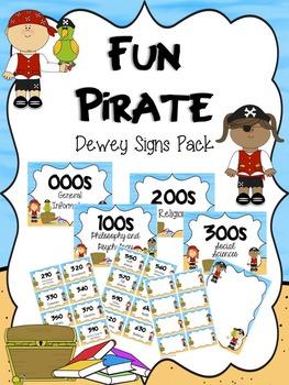 Fun Pirate Dewey Signs Pack
