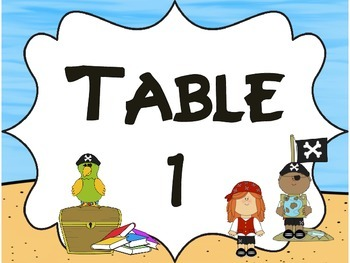 Fun Pirate Group/Table Signs
