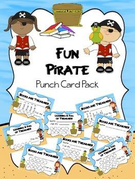 Fun Pirate Punch Card Pack