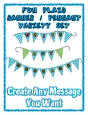 Fun Plaid Pennant Banner Set - Write any Message - all let