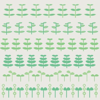 Fun Plant Borders For Bulletin Boards, Scrap Books, and Teacher Made Materials