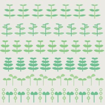 Fun Plant Borders For Bulletin Boards, Scrap Books, and Te