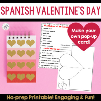 Fun Pop-up Card Activity for Día de San Valentín