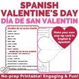 Spanish Valentine's Day Card Activity | Día de San Valentí