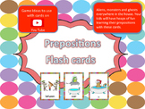 Fun Prepositions flash cards