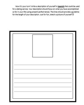 Fun Present Perfect Spanish Reading and Writing Activity