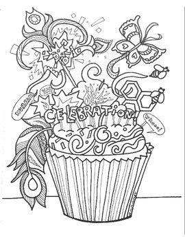 Fun Printable Celebration Cupcake