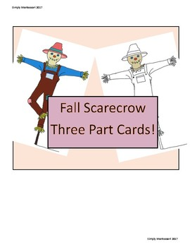 Fun Printable Scarecrow Three Part Cards Preschool MontessoriHomeschool