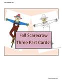 Fun Printable Scarecrow Three Part Cards Preschool Montess