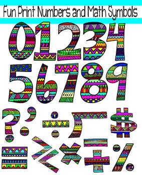 Fun Printed Alphabet Clip Art