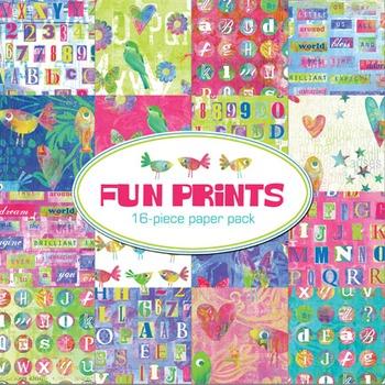 Fun Prints 16-Piece Printable Digital Paper Pack