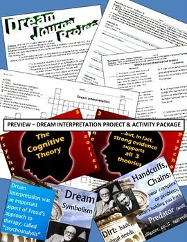 Psychology or English - Fun Activity Package - Dream Interpretation!