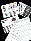 Psychology - Fun Activity - Inkblots! Mini-Rorschach Test Lesson w/ PowerPoint