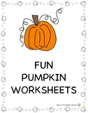 Fun Pumpkin Worksheets