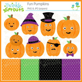 Fun Pumpkins Clipart and Papers
