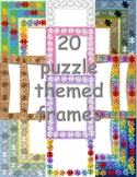 Fun Puzzle Themed Frames