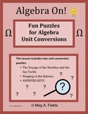 Fun Algebra Puzzles - Solving Unit Conversions