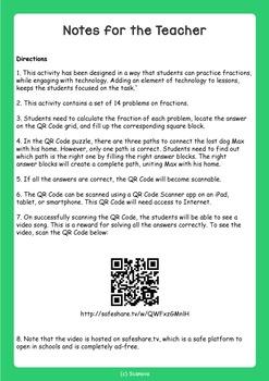 Fun QR Code Math Activity (Fractions)