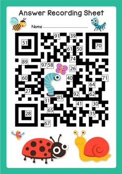Fun QR Code Math Puzzle (Addition, Subtraction, Sequencing, Place Value)