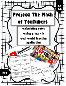 Fun Rate & Slope-Intercept Project: Math of YouTubers