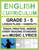 Fun Reading Activities and ELA Lessons! Music to Teach Reading Skills! Bundle
