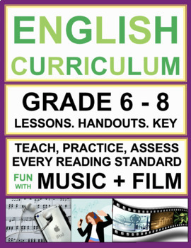 Fun Reading Activities and Lesson Bundle! Use Music to Teach Reading Skills!