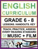 Fun ELA Middle School Music & Video Activities & Lessons | Printable & Digital