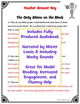 Fun Alien Reading Comprehension Passage and Questions + Hilarious Audiobook #2