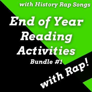 Fun End of Year Reading Activities and Passages Using Rap Songs Bundle #1