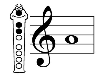 Recorder Fun Fingering Chart- Happy Faces, No Note Names