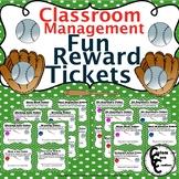 Fun Rewards Tickets Baseball Version (Classroom Management)