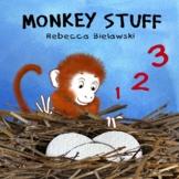 Preschool / Kindergarten Rhyming Count to Ten Picture Book - Monkey Stuff!!