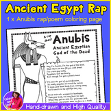 Fun Rhyming Rap/Poem about Ancient Egyptian God ANUBIS Printable Coloring Page