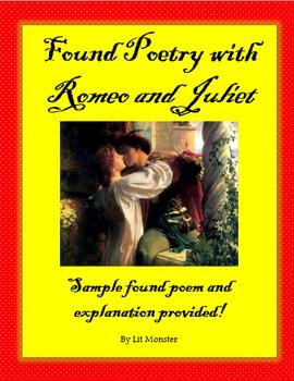 Fun Romeo and Juliet Found Poem Activity!