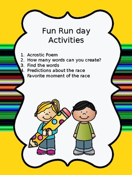 Fun Run Day Activities