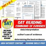 Fun SAT Prep Reading: Best Evidence, Author's Evidence, & Data Interpretation