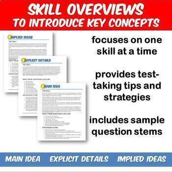 Fun SAT Prep Reading Main Idea Explicit Details Implied Ideas