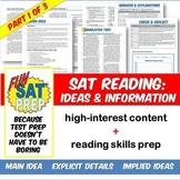 Fun SAT Prep Reading: Main Idea, Explicit Details, & Implied Ideas